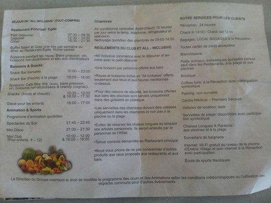 Eretria Village Resort & Conference Center: infos sur eretria hotel