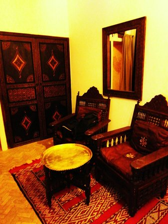 Dar Bennani: The sitting area of our room