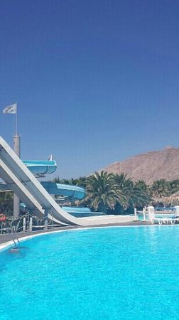 Santorini Waterpark: slides and view