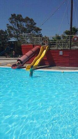 Santorini Waterpark: childrens pool & pirate ship