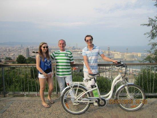 e-Bike Rent Tours : Michela's magic Bikes on Montjuic