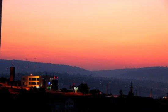 Golf Hills Residence: Sunrise from balcony