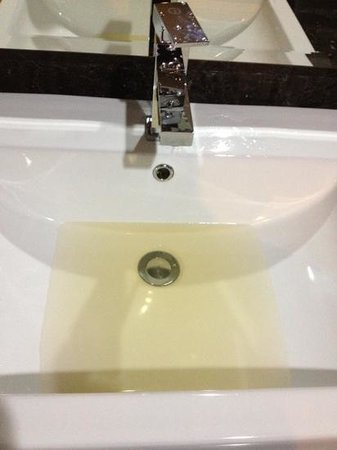 The BCC Hotel & Residence: the tap water in the room toilet