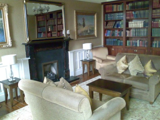 Baileys Hotel Cashel: Comfy place to read my Kindle in the Library.