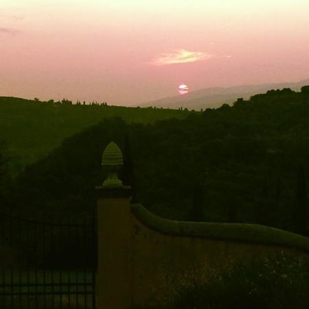 Tramonto stupendo a Villa Morelli