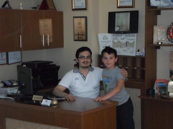 Hotel Sultan House: Yunus der GF und Yakub :-)