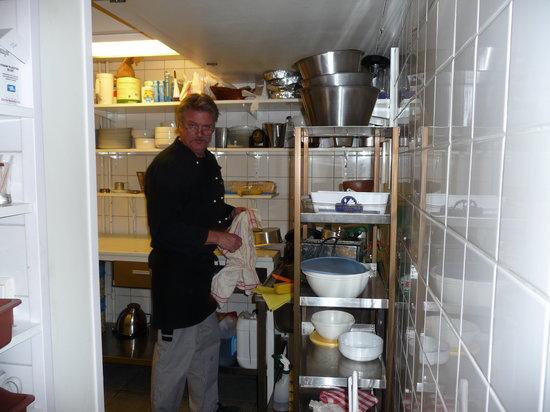 Pub Trapper In: Pub owner in the kitchen