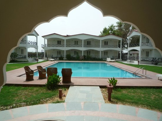 Tiger Den Resort: Pool with rooms