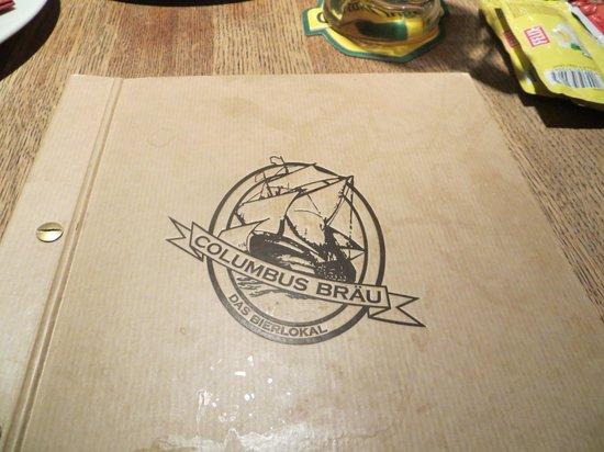 Das Columbus: the menu