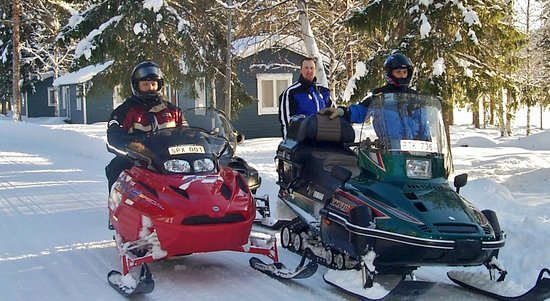 Kerstins Udde Spa Camping Stugby: Go snowmobiling in winter