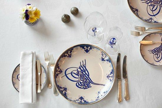 Table Set-up - Picture of Tugra Restaurant, Istanbul - TripAdvisor
