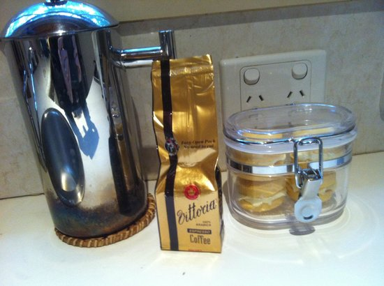 Myers Creek Cascades: Coffee and homemade biscuits