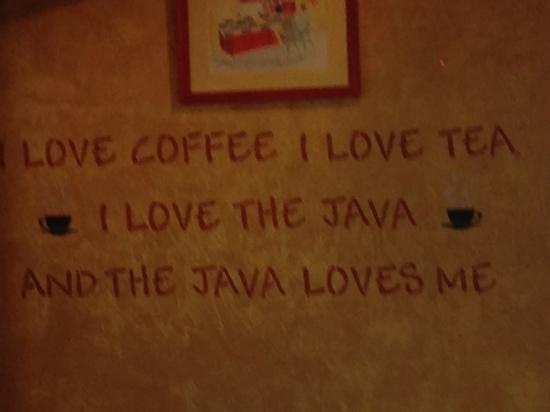 Over Easy Café: java love