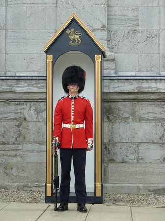 Guard outside main entrance, Rideau Hall