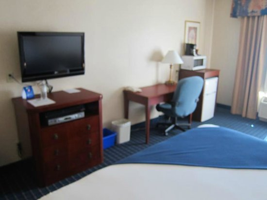 Holiday Inn Express Hotel & Suites Belleville: Flat screen and desk area