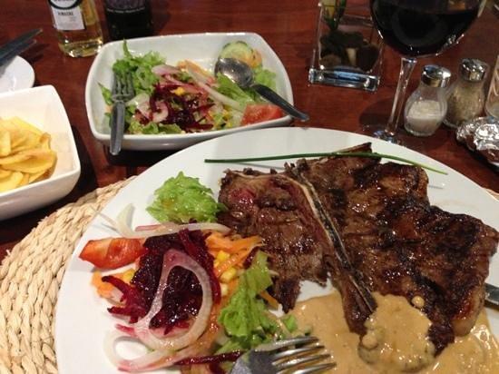 A Lota: T-bone steak ...... yum