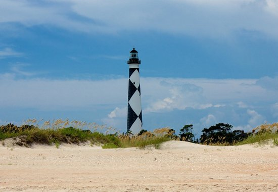 View from cape lookout lighthouse picture of cape for Point lookout fishing report