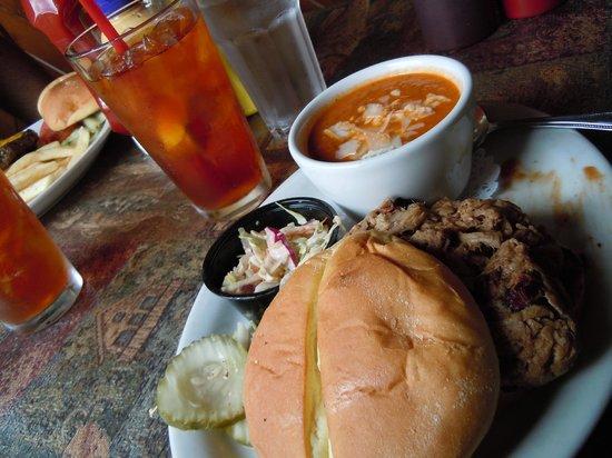 Arapahoe Cafe & Pub : Pit Smoked BBQ Brisket + Roasted Tomato Soup