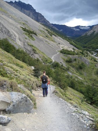 Dragon de la Patagonia: walking up to the peaks