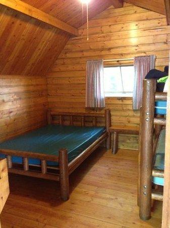 Asheville East KOA: inside cabin