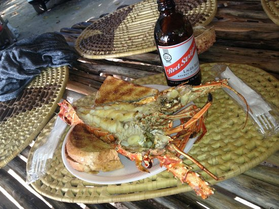 Don Fresh Lobsters: fresh garlic lobster mmm and of course a red stripe