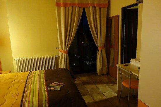 Bedroom of Hotel La Rocca in San Marino
