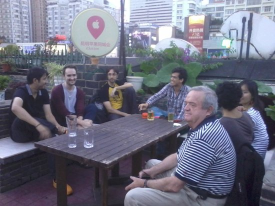 The Hump Hostel : Enjoying the terrace