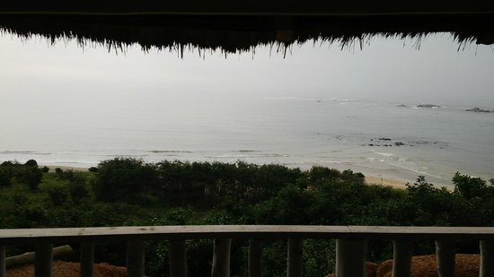 Abuesi Beach Resort: A view of the ocean from the bar/dining area