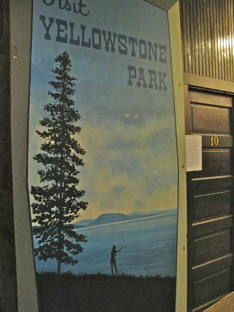 Yellowstone Historic Center: Panels that were once painted and attached to trains