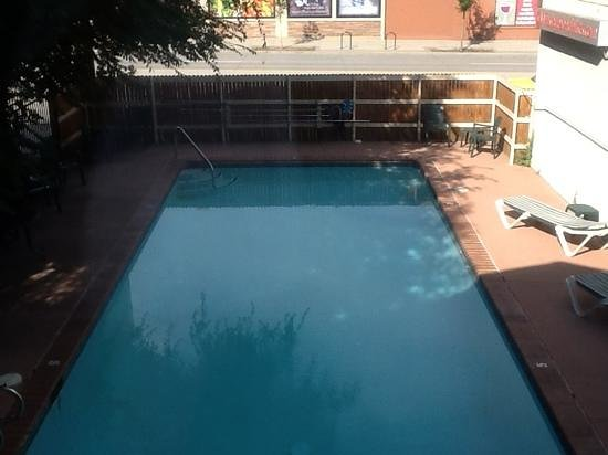 pool view at Boulder University inn