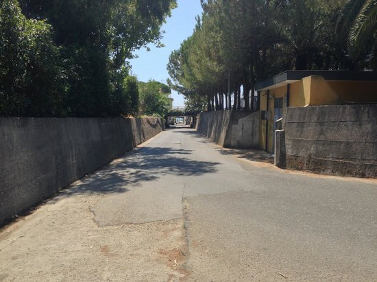 Hotel Villa Afrodite : The road to the beach
