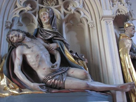 Assumption of Our Lady Church: interior detail Pieta