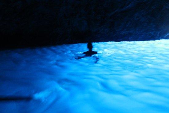 Capri Boat Service: daughter swimming in the blue grotto