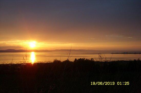 Riotel Matane : coucher de soleil sur le st Laurent