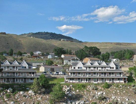 Yellowstone's Absaroka Lodge : Far off view of the lodge at Absaroka