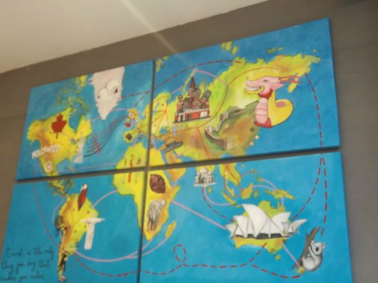 World map - Picture of America del Sur Hostel, Buenos Aires ... on map of panama, map of venezuela, map of travel, map of argentina, map of spain, map of playa, map of bolivia, map of colombia, map of buenos aires, map of costa rica, map of africa, map of europe, map of sudamerica, map of las antillas, map of barbados, map of france, map of paraguay, map of peru, map of ecuador, map of australia,