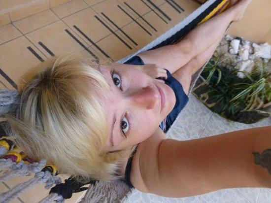 Posada Isla Chica: Relaxing on Hammock