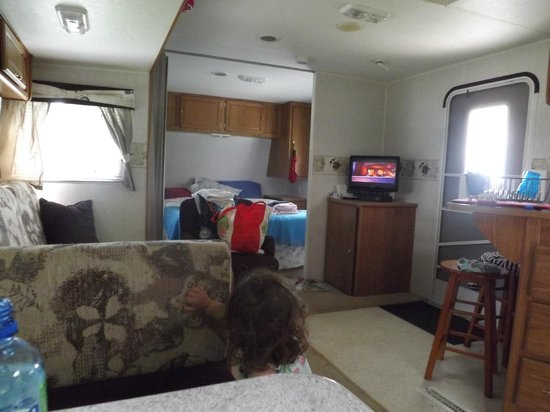 The Lantern Resort Motel and Campground: inside RV