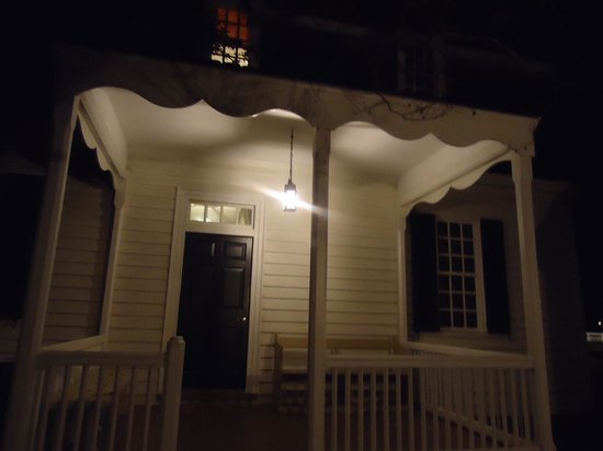 Colonial Houses Colonial Williamsburg: Porch Entrance At Night (Ewing House)