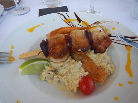 On Dine a Calvi Plage : Saint-Jacques