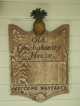 Old Chickahominy House: placque