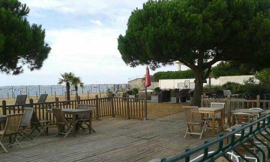 Inter-Hotel de la Plage : le bar vue sur l'océan