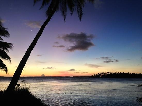 Vahine Island Resort & Spa: Sunset