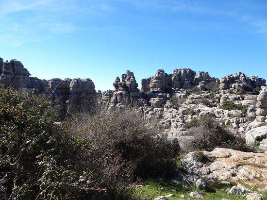 Paraje Natural Torcal de Antequera: Vista del Torcal