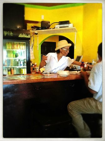 the counter at the jerk pit