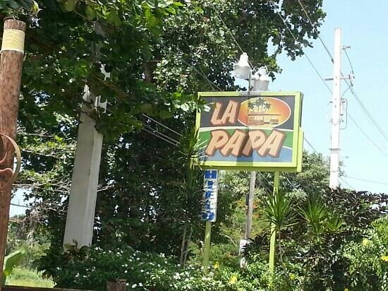 La Papa: Sign out front