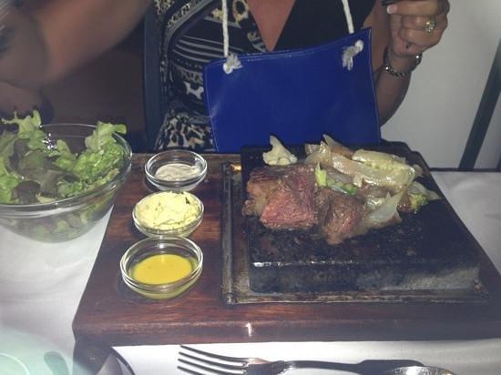 Princess Garden : Steak on a Stone - wonderful