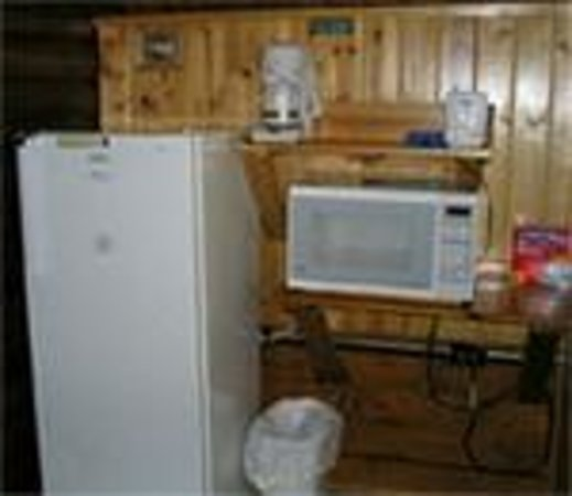 """Kritter's Northcountry Campground & Cabins: """"kitchenette area"""" of one of the Cozy Cabins"""