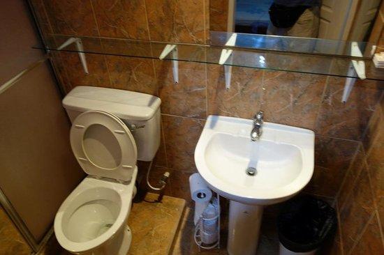 Bathroom of Miller's Guest House in Bucco village Tobago