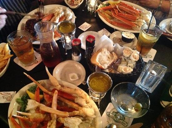 snow crab dinner at Boone's Long Lake Inn
